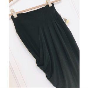 Norma Kamali Skirts - Norma Kamali Everlast Draped Asymmetrical Skirt